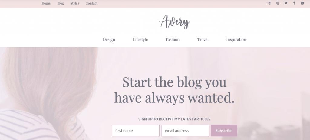generatepress site templates avery
