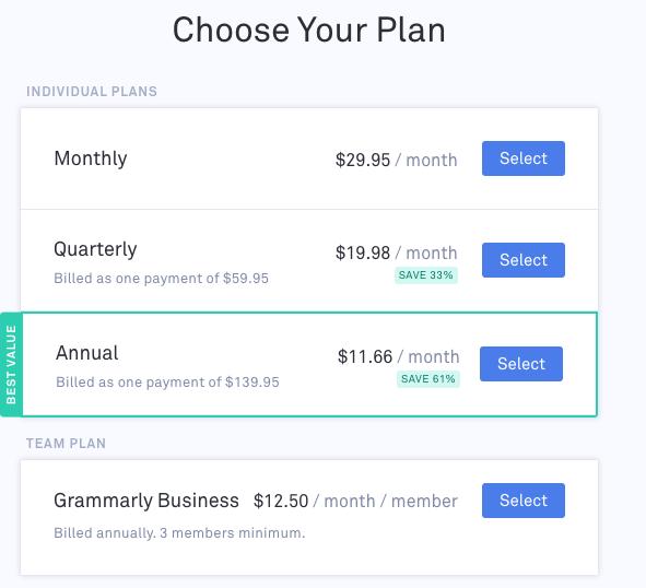 Plan Selection