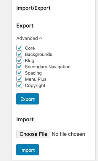 generatepress import export
