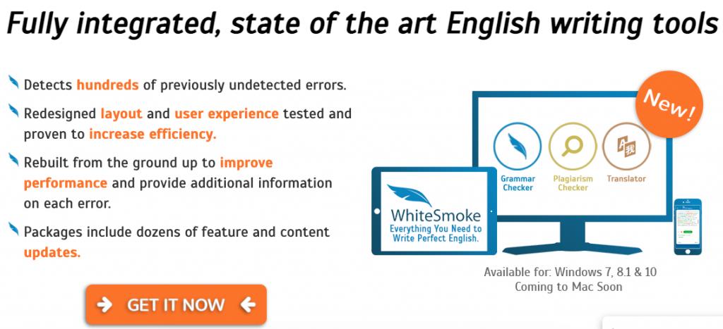 WhiteSmoke grammar and punchuation checker tool