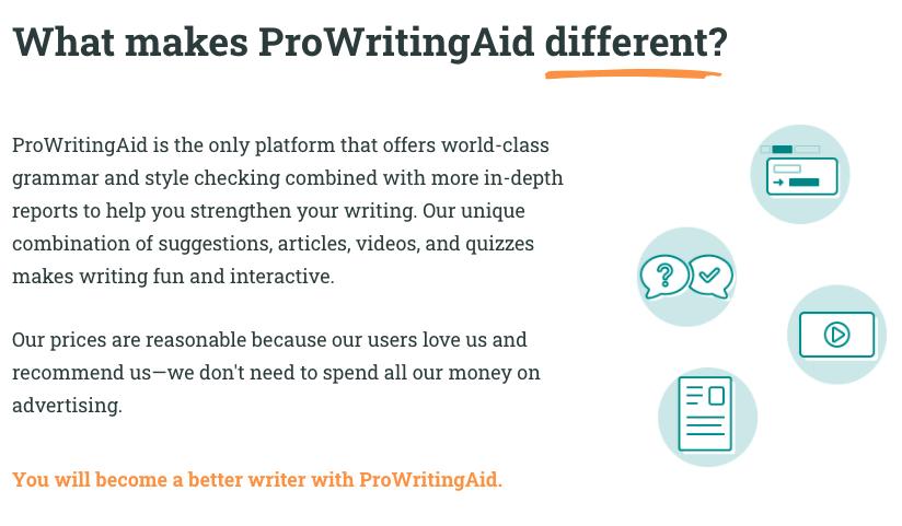 ProWritingAid grammar and punchuation checker tool