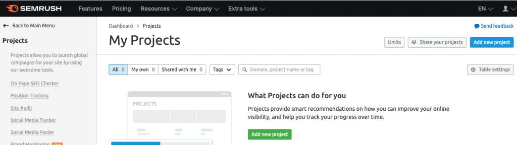 Semrush project