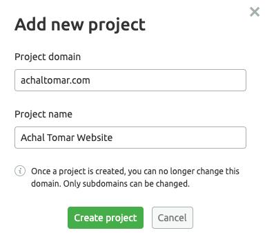 Semrush project creation