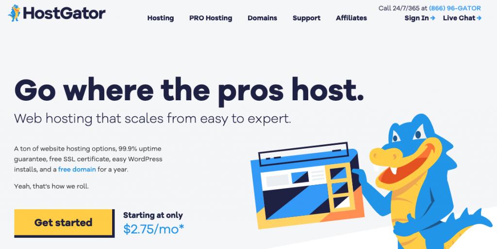 HostGator cheap WordPress hosting